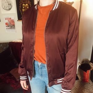 Forever 21 maroon bomber size M